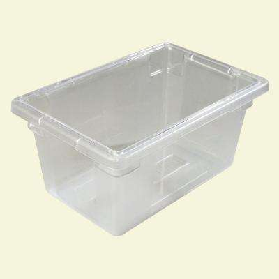 Color-Coded 5.0 gal., 12x18x9 in. Polycarbonate Food Storage Box in Clear (Case of 6)