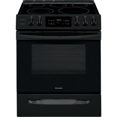 30 in. 5.0 cu. ft. Single Oven Electric Range with Self-Cleaning Oven in Black