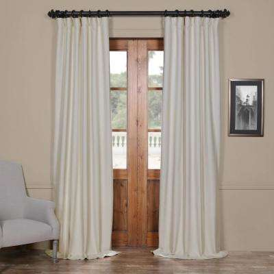Semi-Opaque Cottage White Bellino Blackout Curtain - 50 in. W x 108 in. L (Panel)
