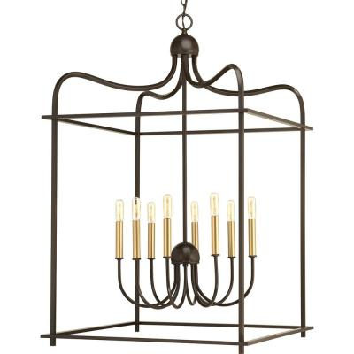 Assembly Hall Collection 8-Light Antique Bronze Pendant