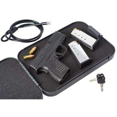 XL Lockbox 7 in. x 10 in. x 2 in. with Keyed Lock, Security Cable