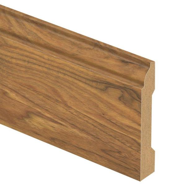 Alexandria Walnut 9/16 in. Thick x 3-1/4 in. Wide x 94 in. Length Laminate Base Molding