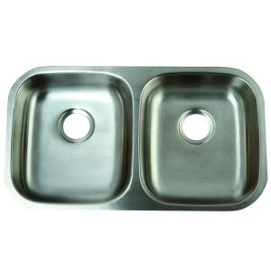 Kingston Brass Undermount Stainless Steel 32 In. Double Bowl Kitchen Sink HGKUD32194    The Home Depot