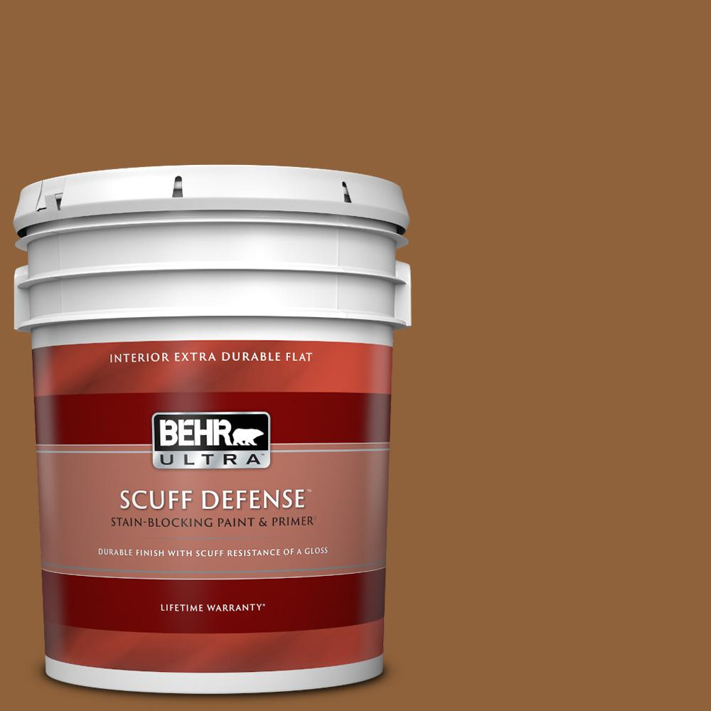 Behr Ultra 5 Gal S250 7 Moroccan Spice Extra Durable Flat Interior Paint Primer 172305 The Home Depot