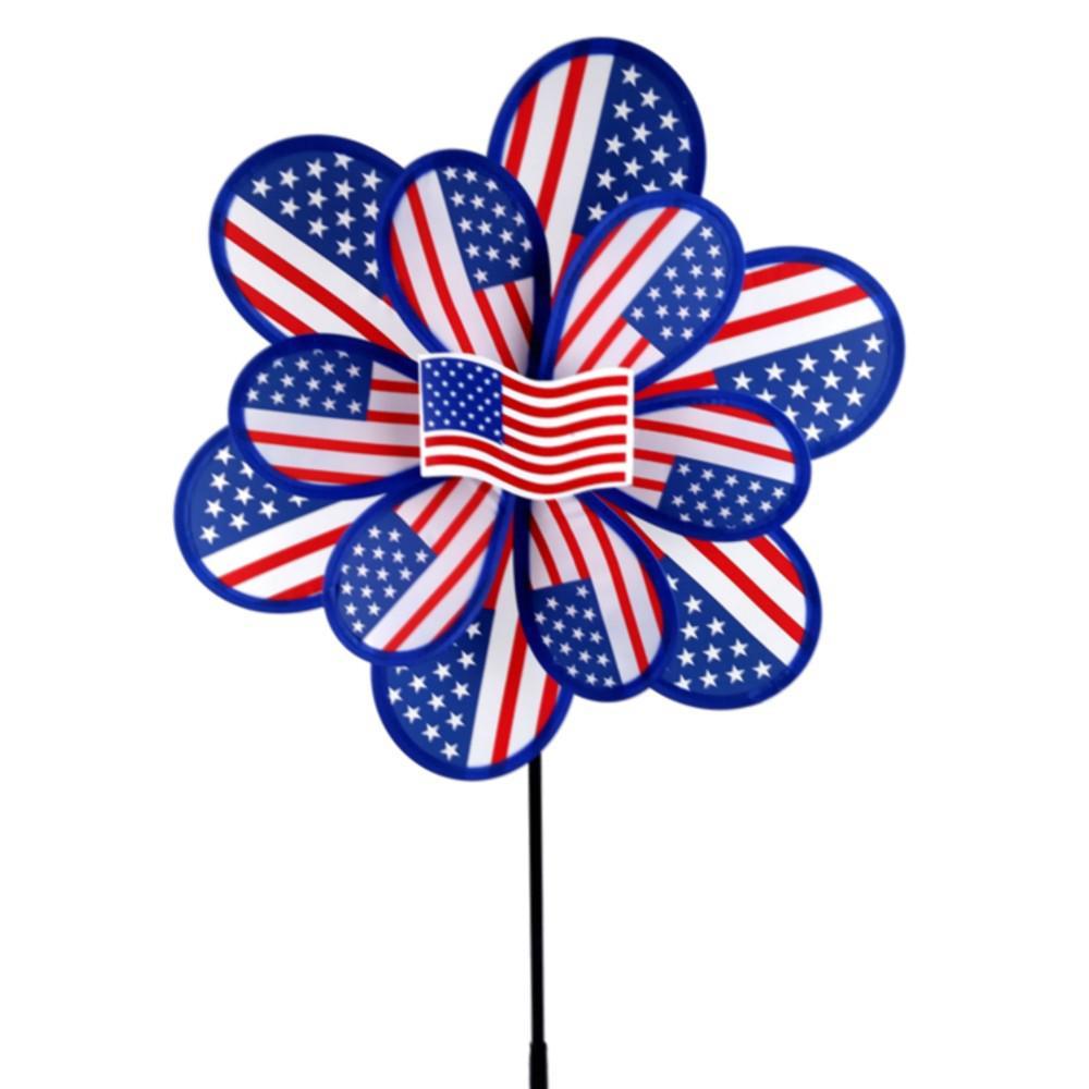 15 in. Nylon USA Yard Pinwheel