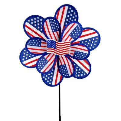 15 in. Nylon USA Yard Pinwheel