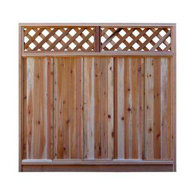 6 ft. H x 6 ft. W Western Red Cedar Diagonal Lattice Top Fence Panel Kit