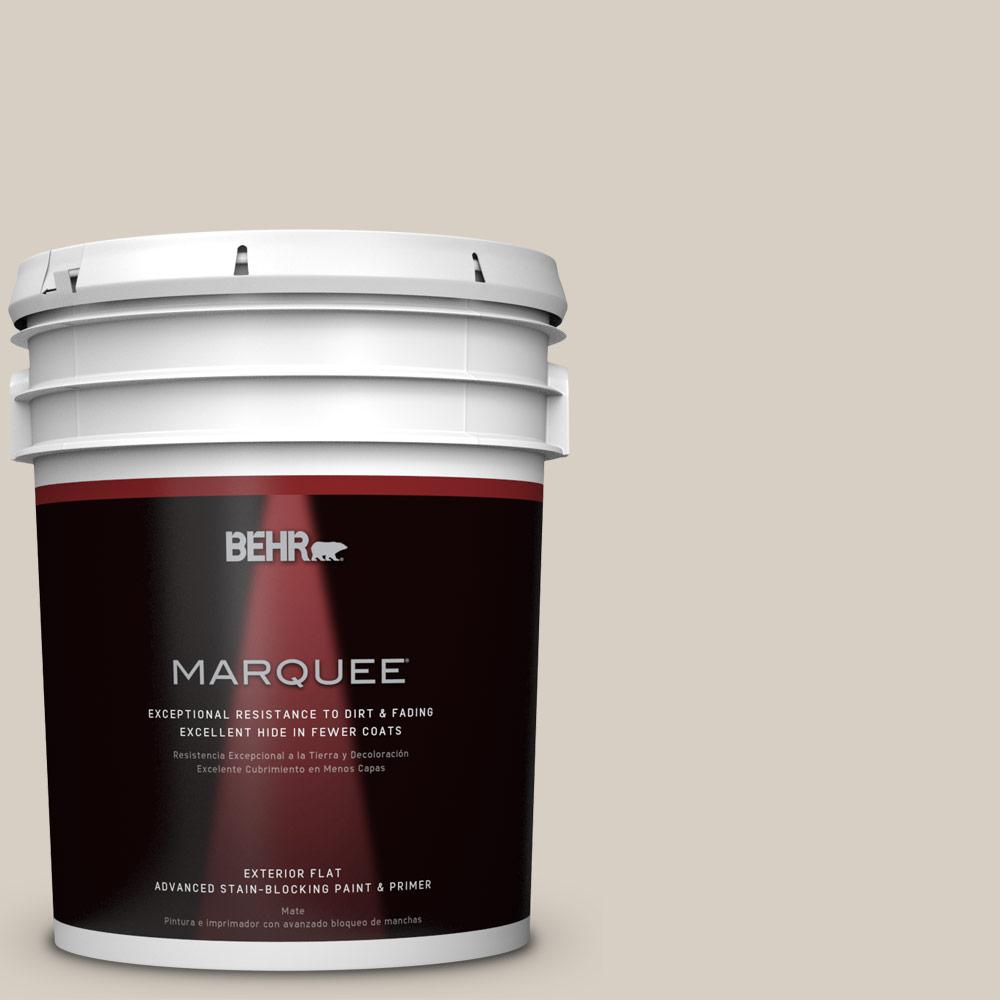 BEHR MARQUEE 5-gal. #BWC-24 Mocha Light Flat Exterior Paint