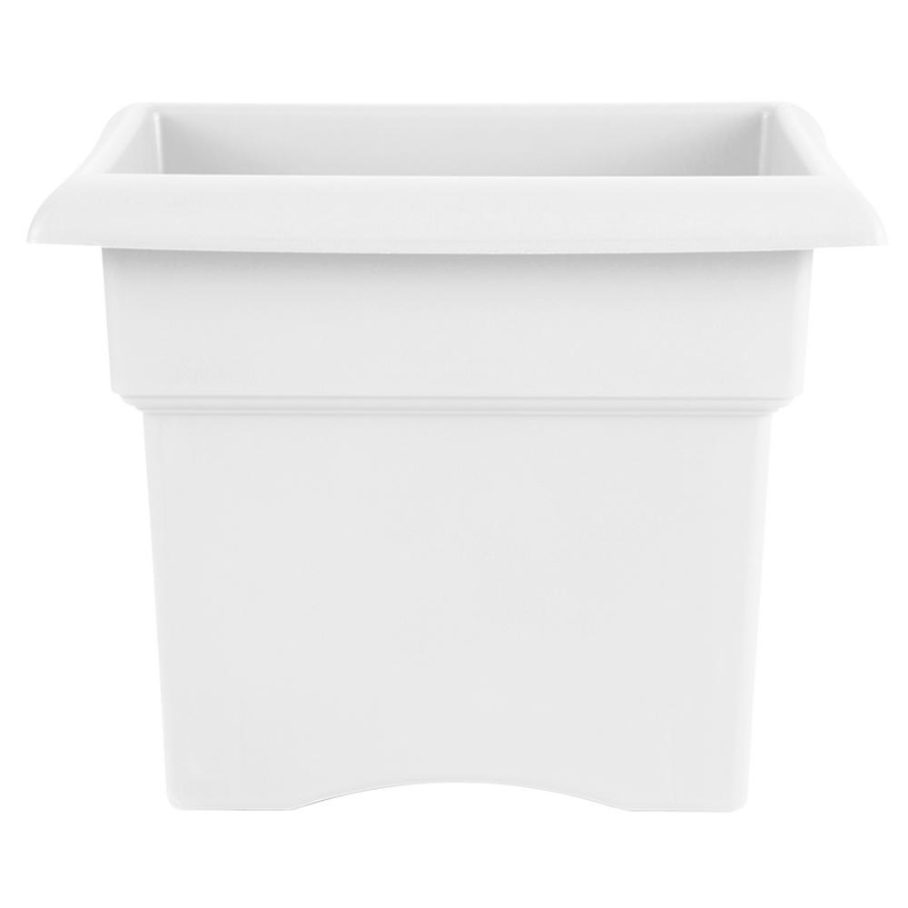 Bloem Veranda 14 in. x 11.25 Plastic Casper White Deck Box Planter Square was $15.76 now $8.08 (49.0% off)