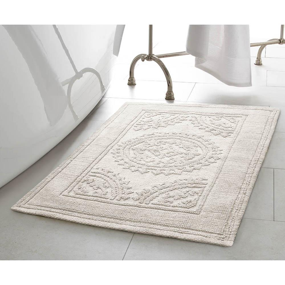 Stonewash Medallion 21 in. x 34 in. Cotton Bath Rug in