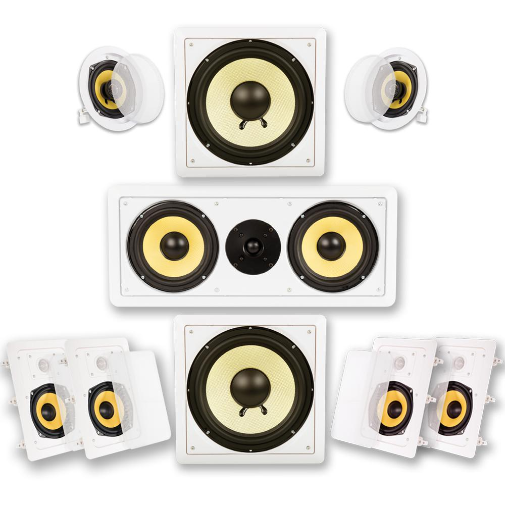 In-Wall/Ceiling Home Theater Surround 7.2 Speaker System In-Wall/Ceiling Home Theater Surround 7.2 Speaker System
