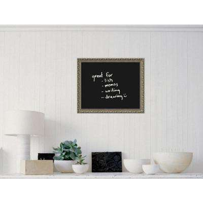 Black 23 in. W x 19 in. H Framed Glass Dry Erase Board