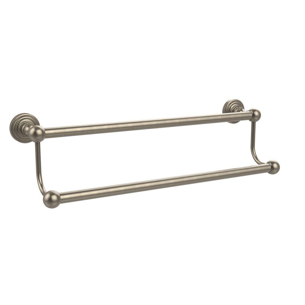 Allied Brass Waverly Place Collection 36 in. Double Towel Bar in Antique Pewter