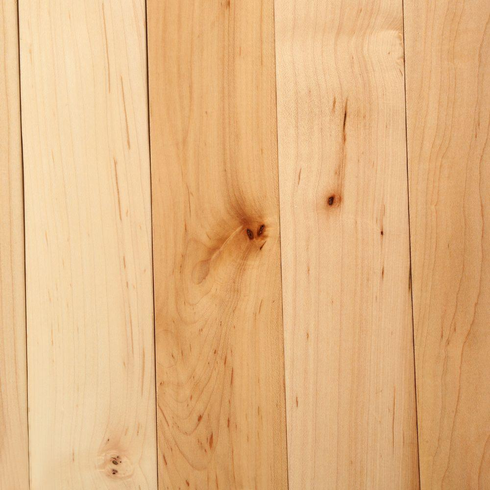 Bruce natural maple 3 4 in thick x 2 1 4 in wide x for Unfinished oak flooring