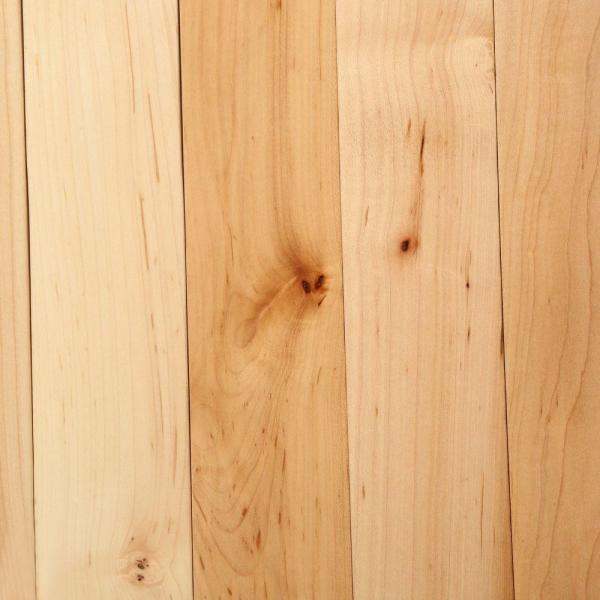 Natural Maple 3/4 in. Thick x 2-1/4 in. Wide x Varying Length Solid Hardwood Flooring (20 sq. ft. / case)