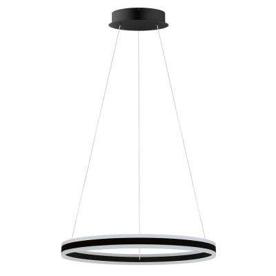Tonarella 2-Light Black and White Acrylic LED Round Open Pendant