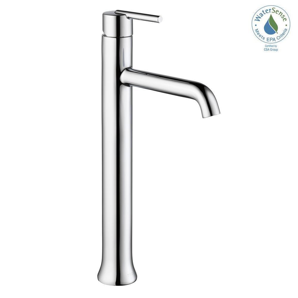 Trinsic Single Hole Single-Handle Vessel Bathroom Faucet in Chrome