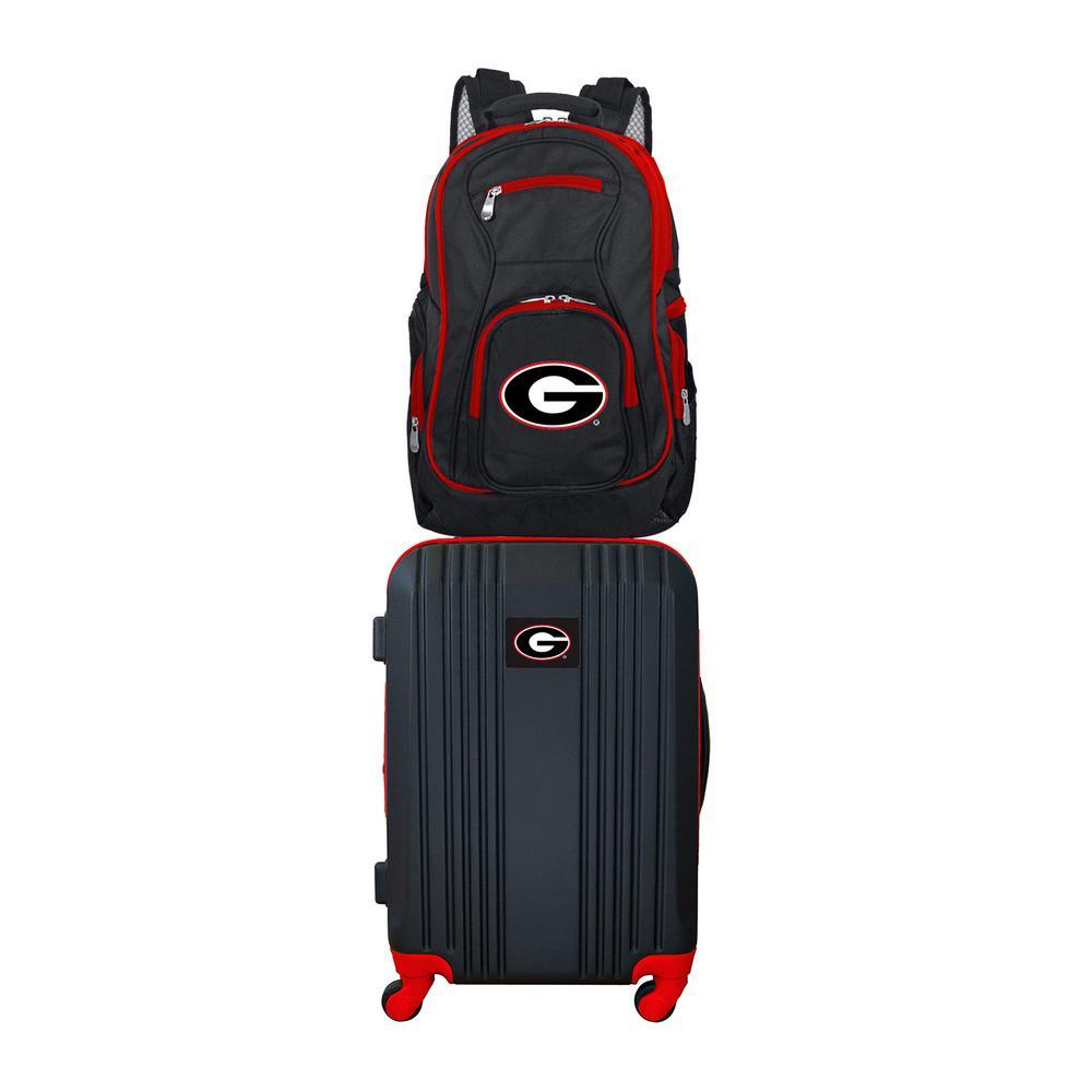 NCAA Georgia Bulldogs 2-Piece Set Luggage and Backpack