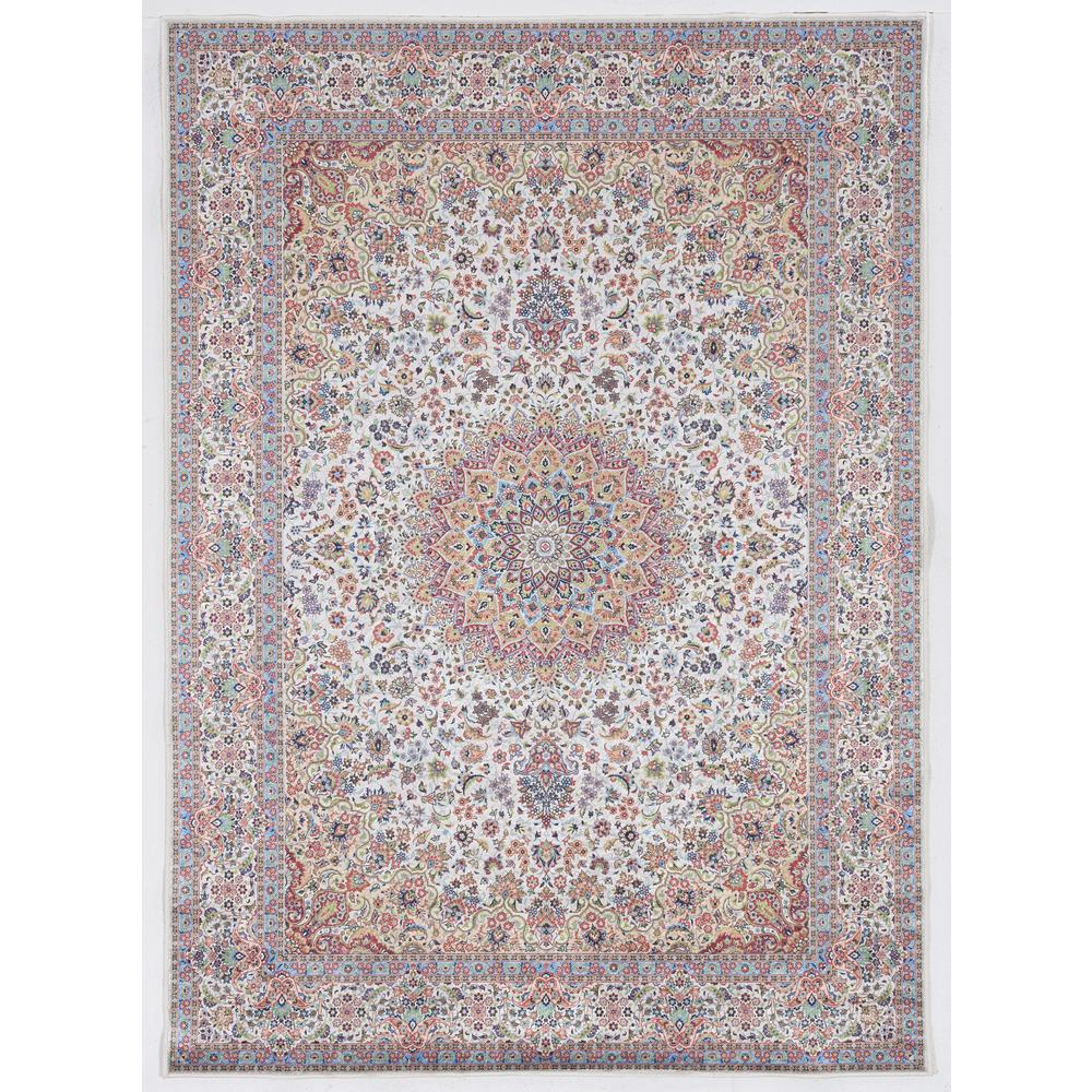 Echelon Laine Ivory/Blue 6 ft. 7 in. x 9 ft. 7 in. Area Rug