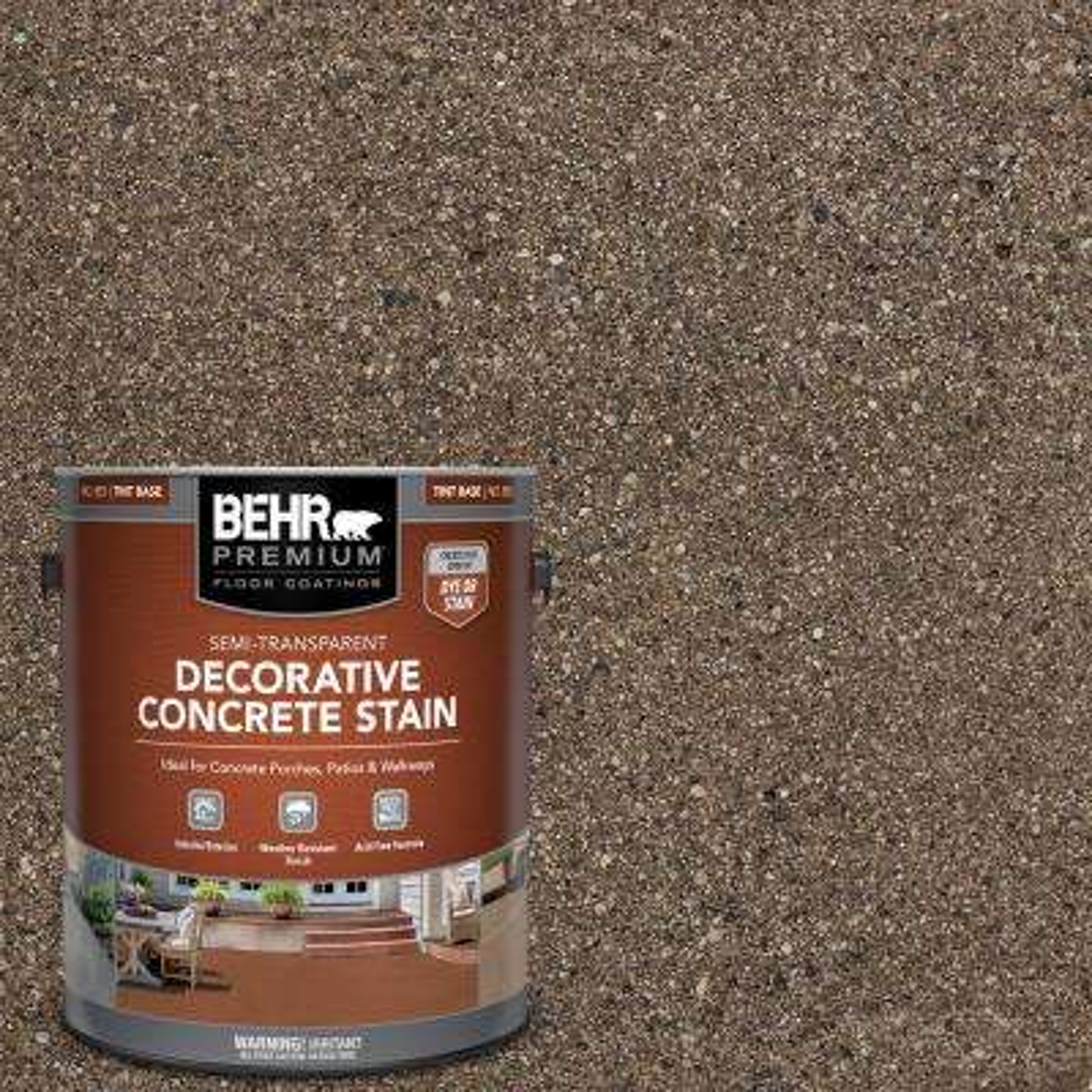 1 gal. #DCS-867 Walnut Semi-Transparent Flat Interior/Exterior Decorative Concrete Stain
