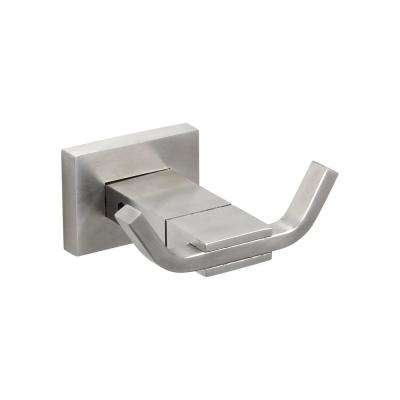 Bathroom Double Robe Hook in Stainless Steel