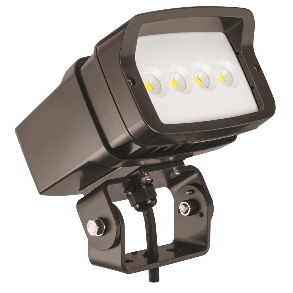 Lithonia OFL1 LED Bronze Outdoor 5000K Flood Light