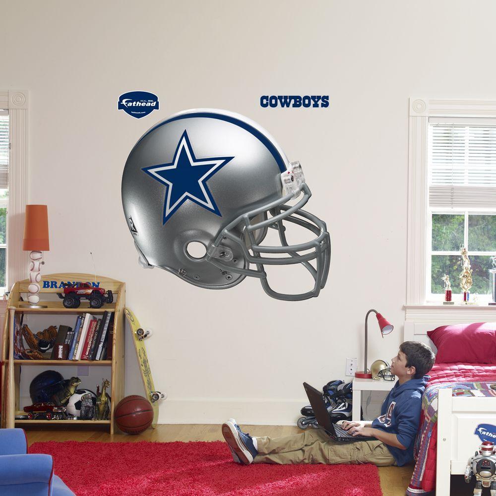 Fathead 57 in. x 51 in. Dallas Cowboys Helmet Wall Decal