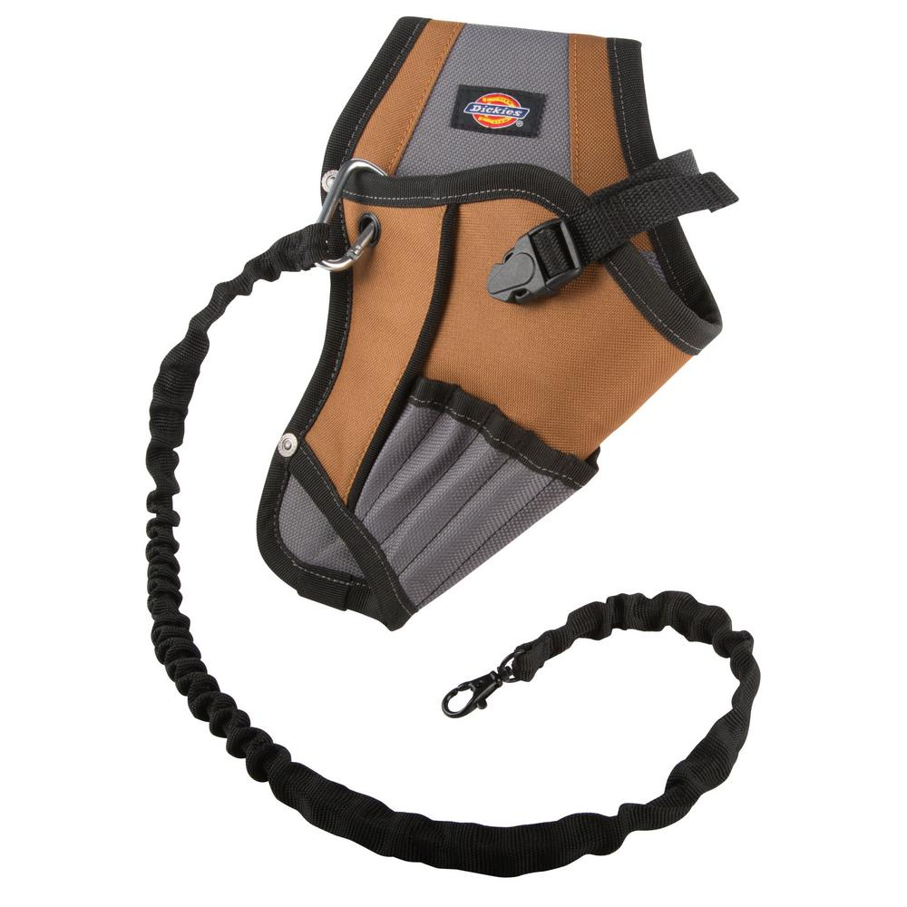 5-Pocket Drill Holster with Safety Tether Grey / Tan
