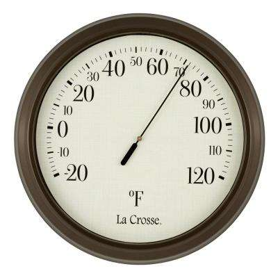 8 in. Round Dial Analog Thermometer