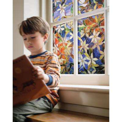 24 in. x 36 in. Clematis Decorative Window Film