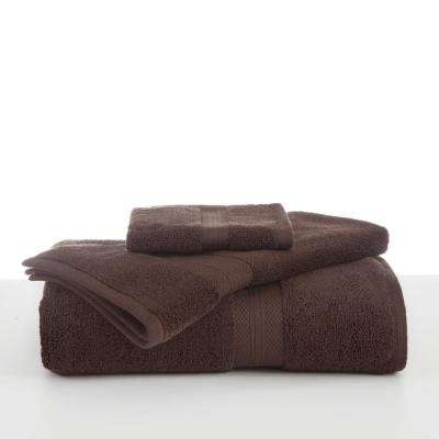 Abundance Cotton Blend  Hand Towel in Chocolate
