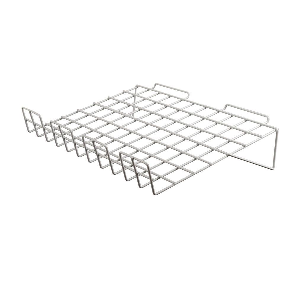 22-1/2 in. W x 14 in. D White Sloping Shelf w/ 3 in. Lip