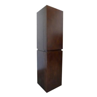 Mannheim 15.6 in. W x 15 in. D x 61.6 in. H Wall Mounted Linen Cabinet in Walnut