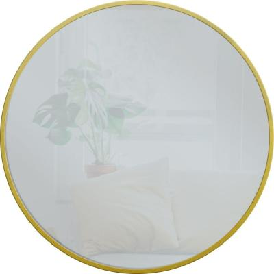 28 in. x 28 in. Round Gold Metal Mirror