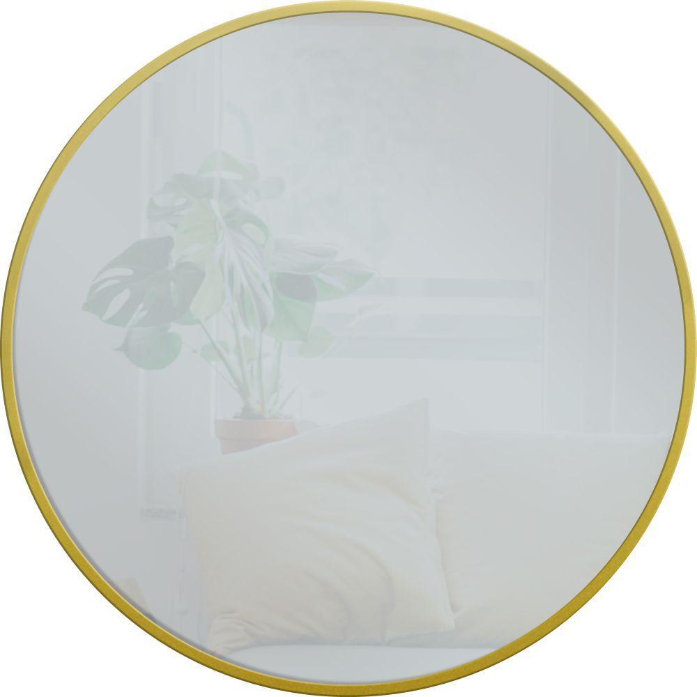 Medium Round Gold Modern Mirror (28 in. H x 28 in. W)