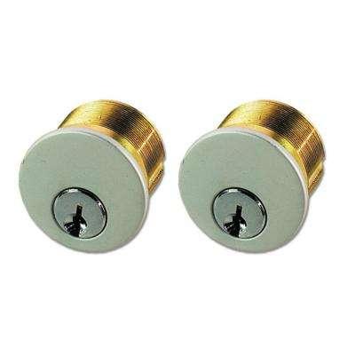 Aluminum Double Brass Mortise Cylinder