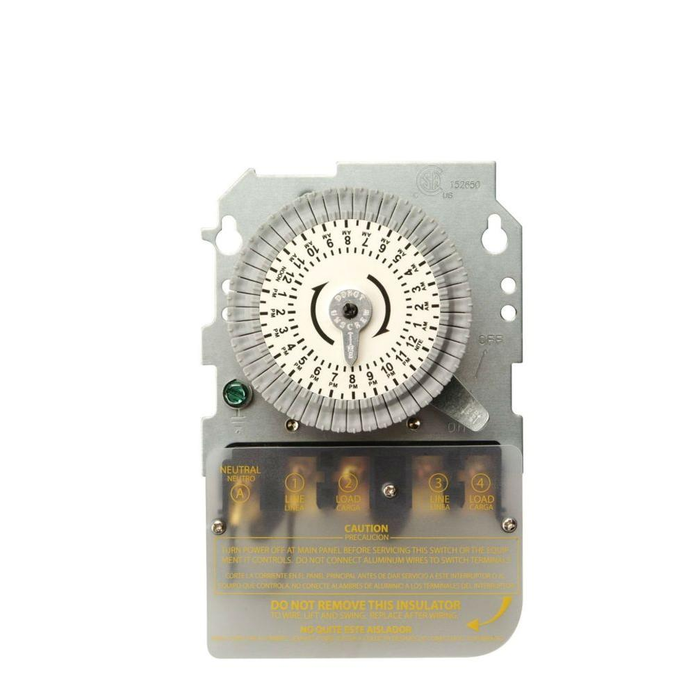 Woods Indoor 120-Volt 40-Amp 24-Hour DPST Replacement Mechanical ...