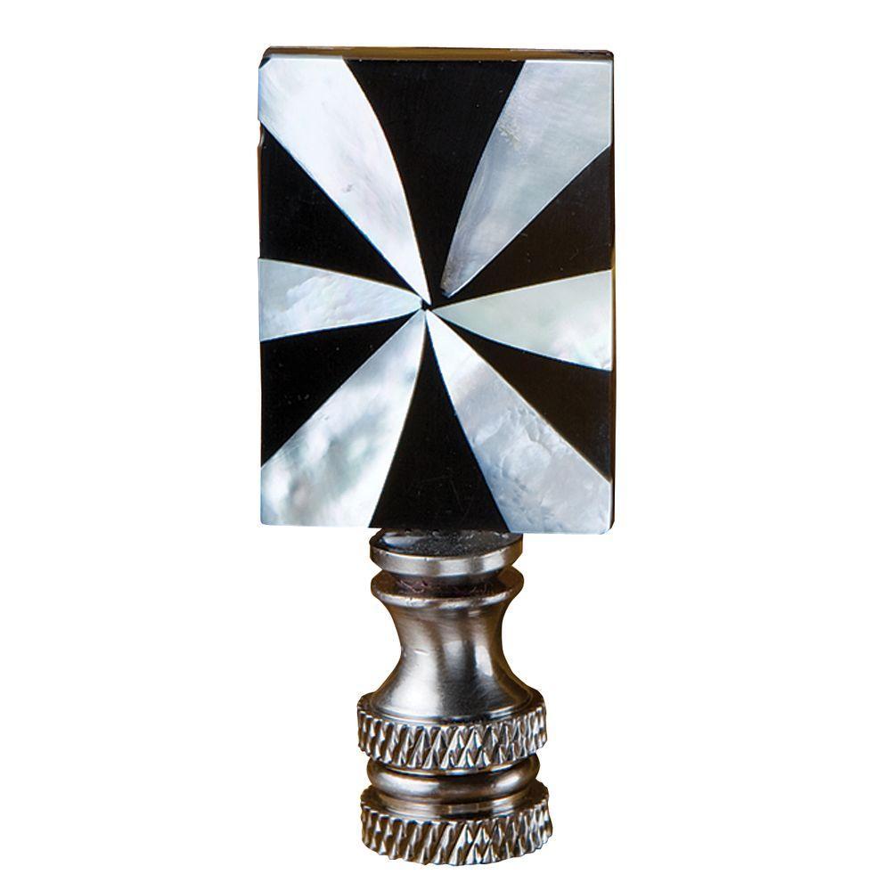 Rectangular Mother Of Pearl Lamp Finial