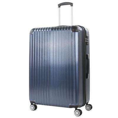 Melrose 25 in. Blue Polycarbonate Expandable Spinner Luggage with TSA Lock and Corner Guards