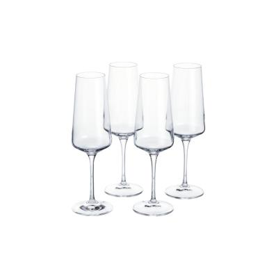 Genoa 12 fl. oz. Lead-Free Crystal Champagne Flutes (Set of 4)