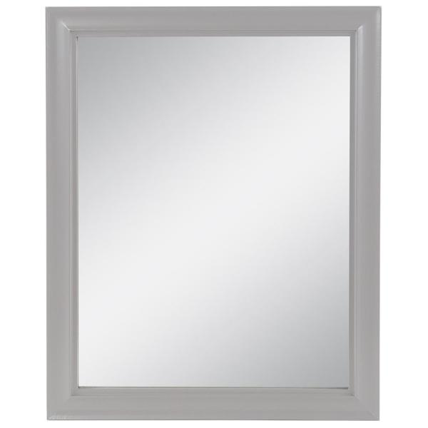 Candlesby 22 in. W x 27 in. H Wood Framed Wall Mirror in Sterling Gray