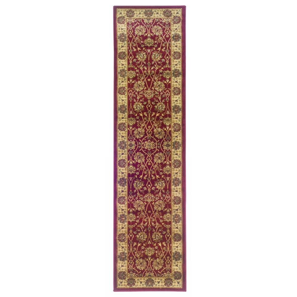Oriental Weavers Kiawah Channing Red 1 Ft 10 In X 7 Ft