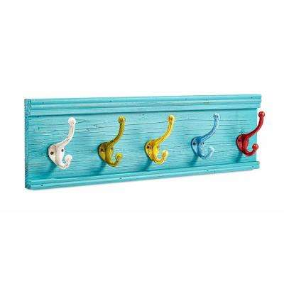24.8 in. Colorful Classroom Coat Hook Rack