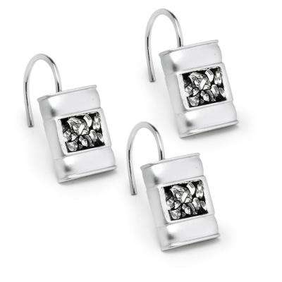 Silver - Shower Curtain Hooks - Shower Accessories - The Home Depot