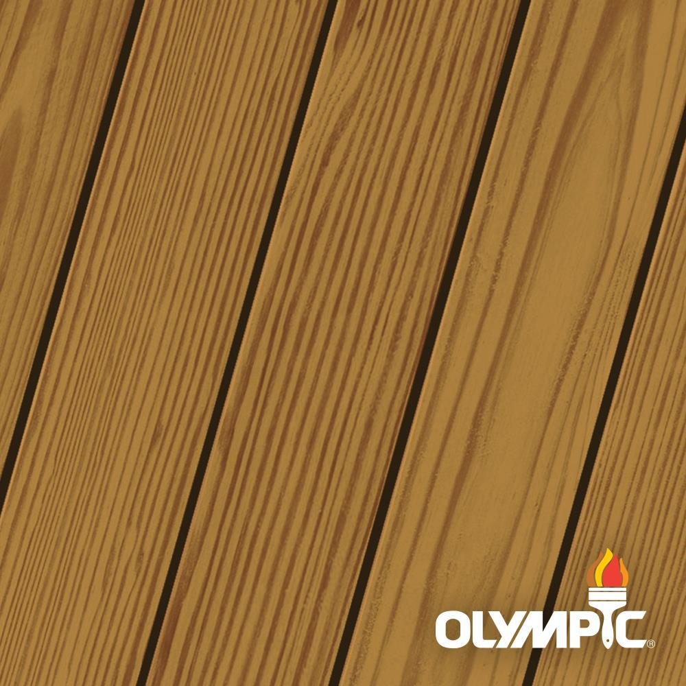 Olympic Maximum 1 gal. Canyon Brown Exterior Stain and Sealant in One Low VOC -  56505A-01