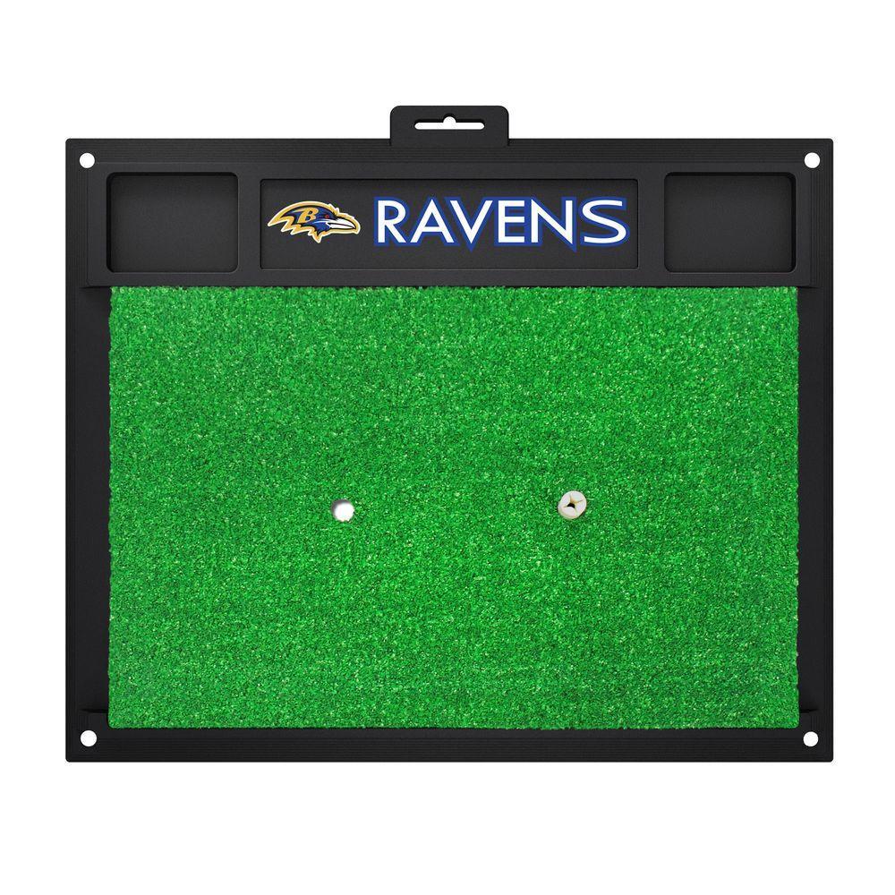 NFL Baltimore Ravens 17 in. x 20 in. Golf Hitting Mat