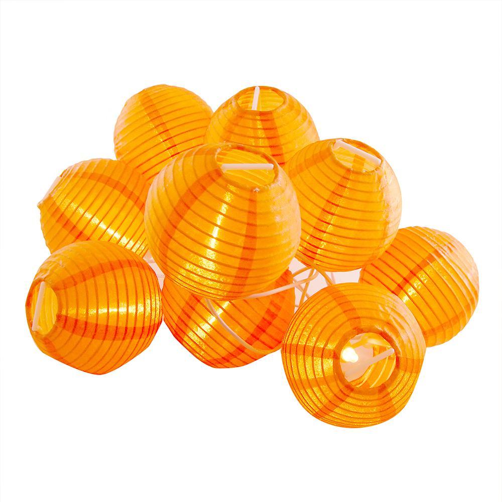 Nylon Lantern String Lights in Orange