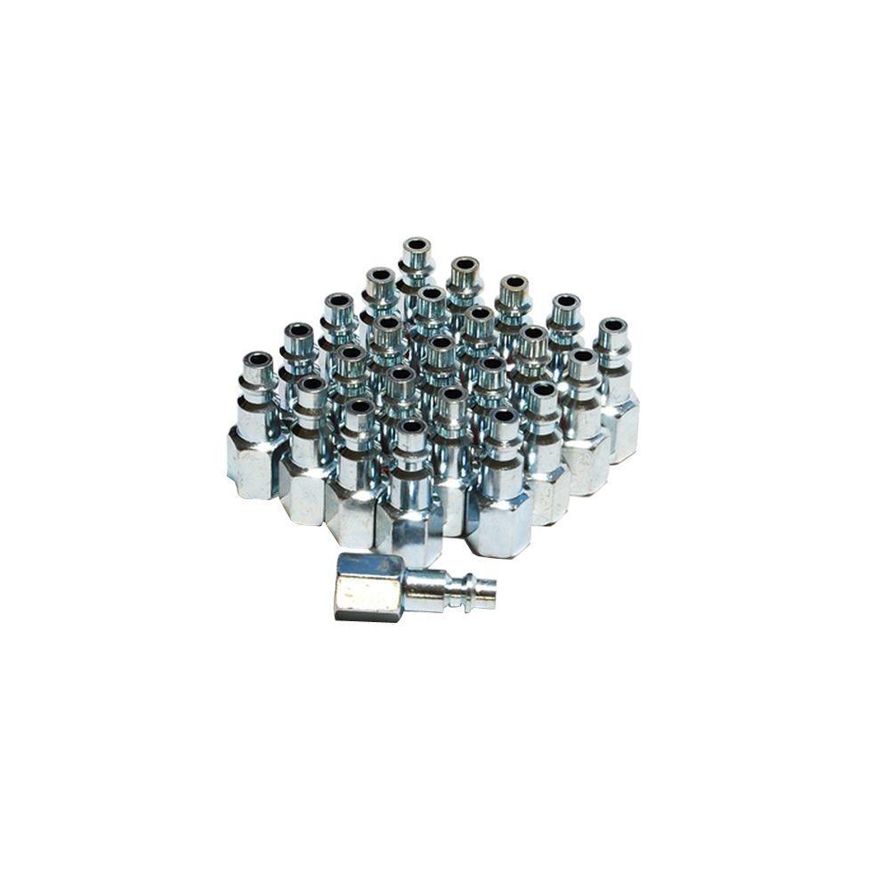 1/4 in. Steel Female Industrial Plug (25-Piece)