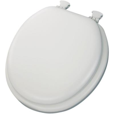 Pleasant Bemis Slow Close Round Closed Front Toilet Seat In White Pabps2019 Chair Design Images Pabps2019Com