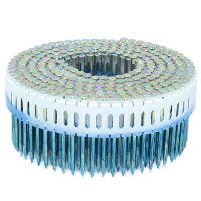 2 in. x 0.092 in. 0-Degree Smooth Galvanized Plastic Sheet Coil Nail 1,000 per Box